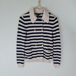 Tommy Hilfiger Striped Collared Cardigan